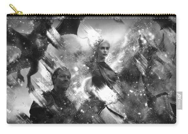 Black And White Games Of Thrones Another Story Carry-all Pouch