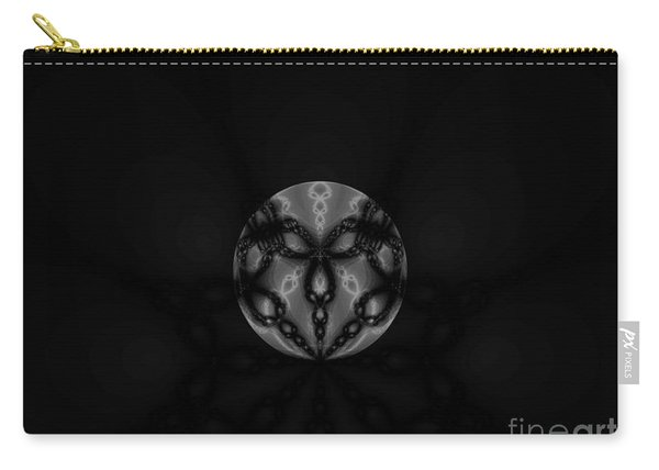 Black And White Globe Fractal Carry-all Pouch