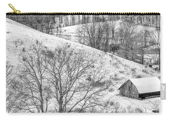 Black And White In Winter Carry-all Pouch