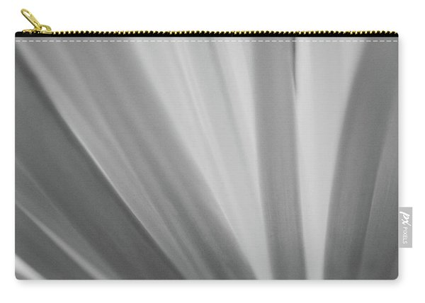 Black And White Mum Petals Carry-all Pouch