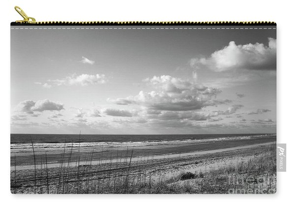 Black And White Ocean Scene Carry-all Pouch