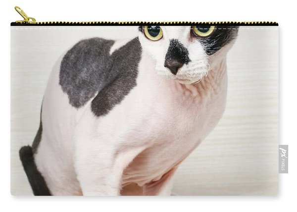 Black And White Sphynx Carry-all Pouch