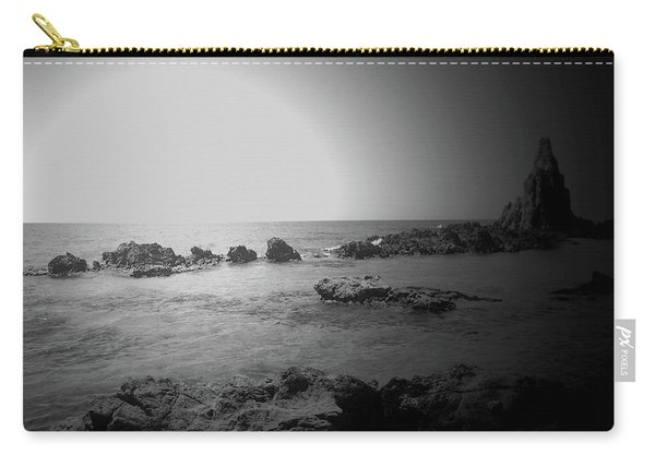 Black And White Sunset In Spain Carry-all Pouch