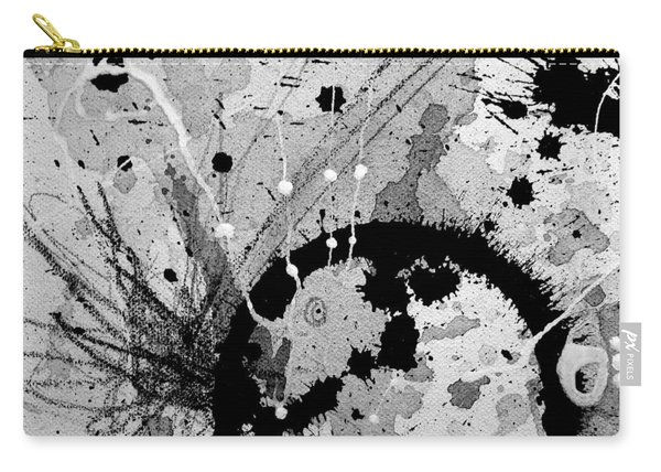 Black And White Three Carry-all Pouch