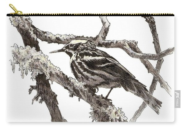 Black-and-white Warbler Carry-all Pouch