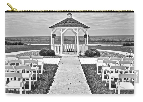 Black And White Wedding Carry-all Pouch