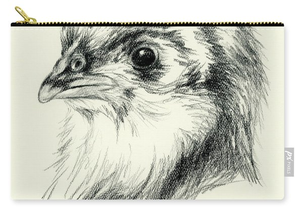 Black Australorp Chick In Charcoal Carry-all Pouch
