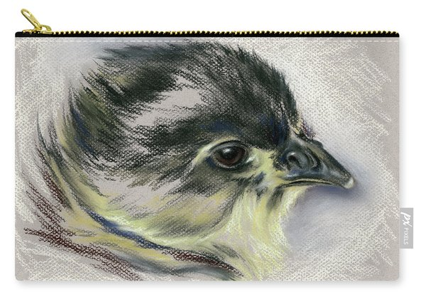 Black Australorp Chick Portrait Carry-all Pouch