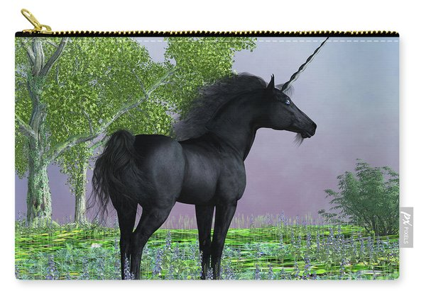 Black Beauty Unicorn Carry-all Pouch