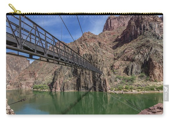 Black Bridge Over The Colorado River At Bottom Of Grand Canyon Carry-all Pouch