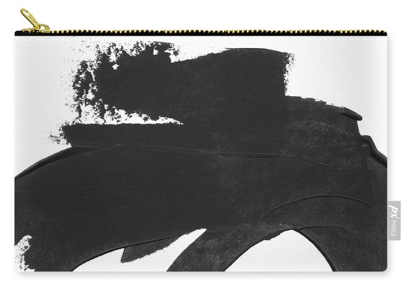 Black Brushstroke 4- Art By Linda Woods Carry-all Pouch