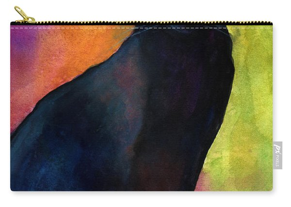 Black Cat 9 Watercolor Painting Carry-all Pouch