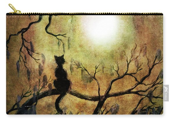 Black Cat And Full Moon Carry-all Pouch