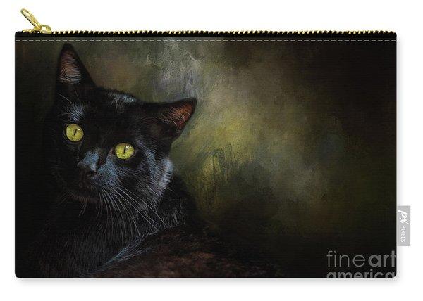 Black Cat Portrait Carry-all Pouch