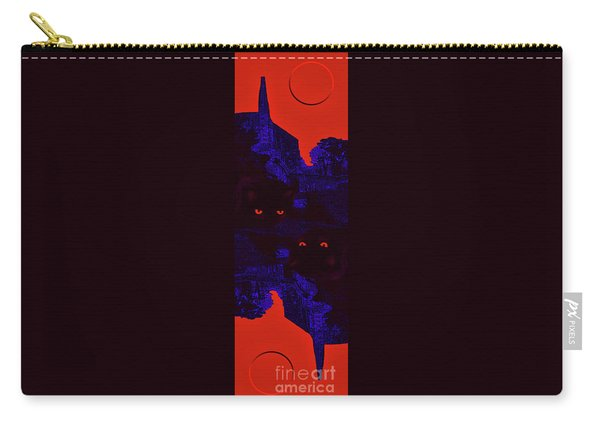 Black Cat Under A Blood Red Moon Carry-all Pouch