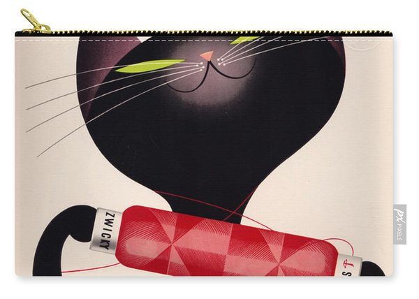 Black Cat Vintage Ad Carry-all Pouch