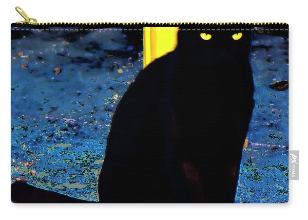 Black Cat Yellow Eyes Carry-all Pouch