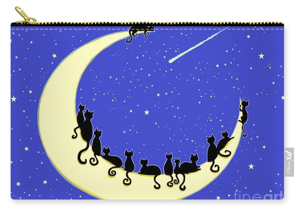Black Cats Moon Carry-all Pouch