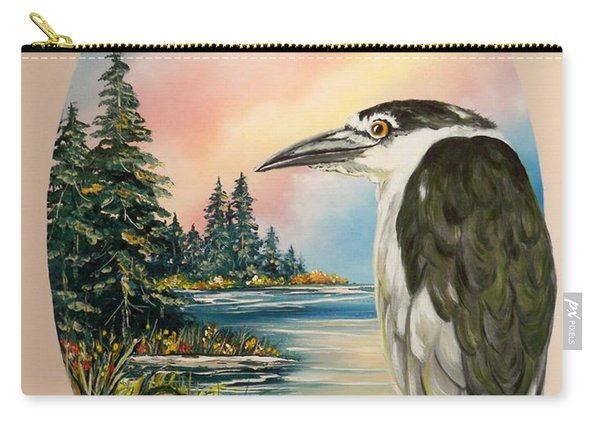 Flying Lamb Productions                     Black Crowned Heron Carry-all Pouch