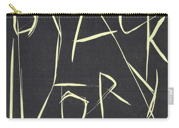 Black Ivory Title Page Carry-all Pouch