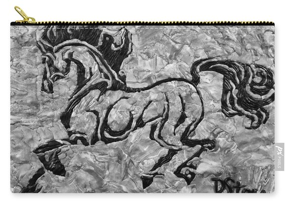 Black Jack Black And White Carry-all Pouch