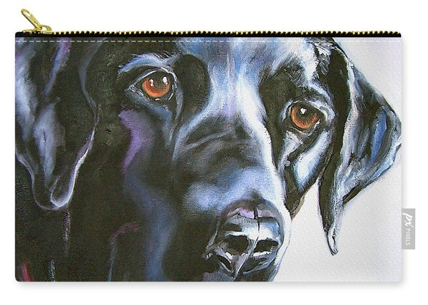 Black Lab No Ordinary Love Carry-all Pouch