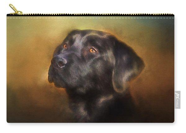 Black Lab Portrait 2 Carry-all Pouch