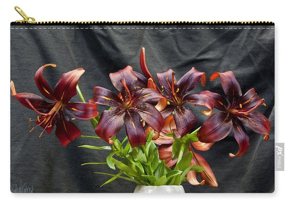 Black Lilies Carry-all Pouch