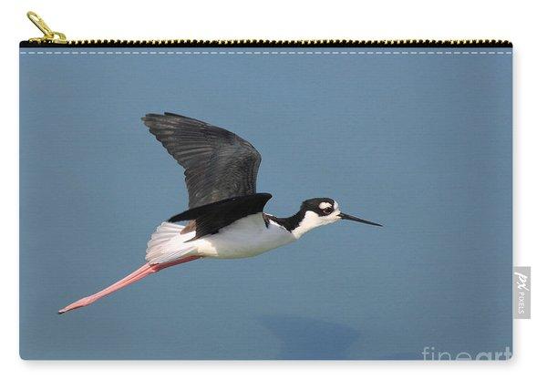Black Necked Stilt In Flight Carry-all Pouch