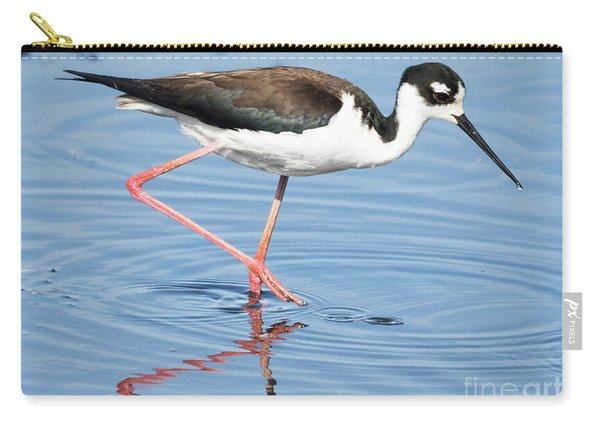 Black-necked Stilt Wading  Carry-all Pouch