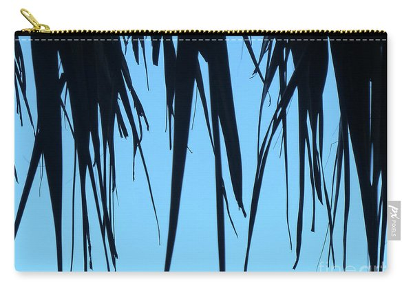 Black Palms On Blue Sky Carry-all Pouch