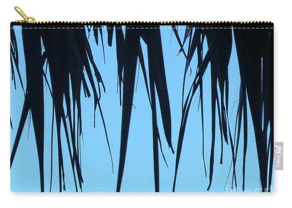 Black Palms On Blue Sky Carry-all Pouch