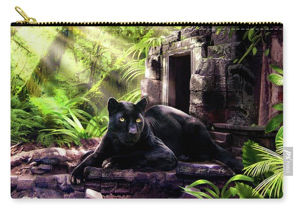 Black Panther Custodian Of Ancient Temple Ruins  Carry-all Pouch
