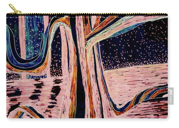 Black-peach Moonlight River Tree Carry-all Pouch