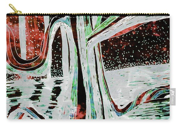 Black-red Moonlight River Tree Carry-all Pouch