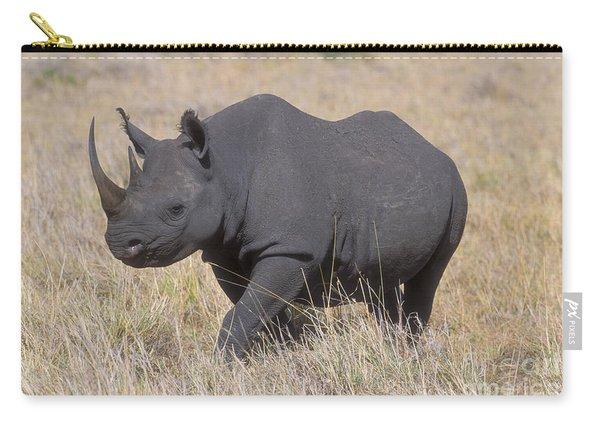 Black Rhino On The Masai Mara Carry-all Pouch