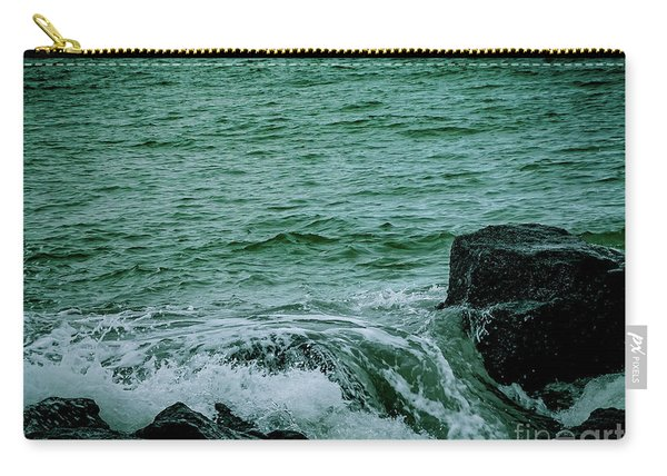 Black Rocks Seascape Carry-all Pouch