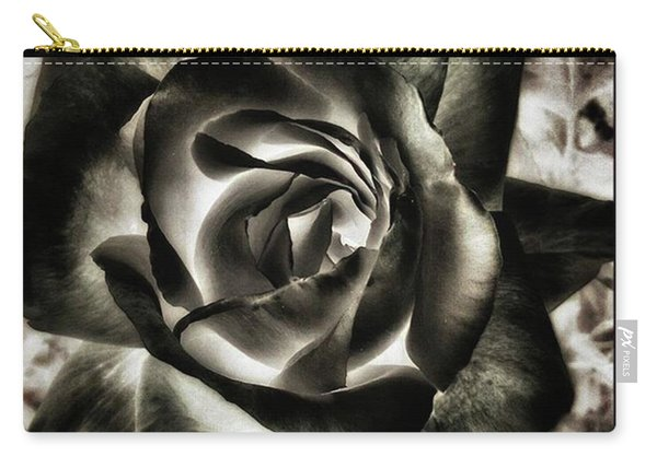 Carry-all Pouch featuring the photograph Black Rose. Symbol Of Farewells by Mr Photojimsf