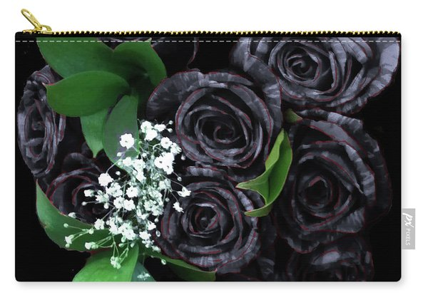 Black Roses Bouquet Carry-all Pouch