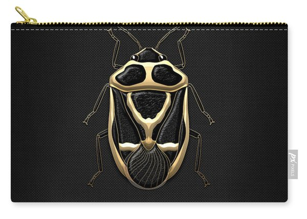 Black Shieldbug With Gold Accents  Carry-all Pouch