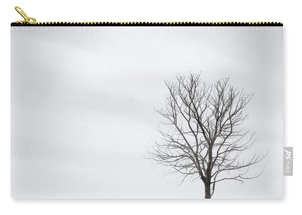 Black Tree White Sky Carry-all Pouch