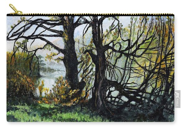 Black Trees Entanglement Carry-all Pouch