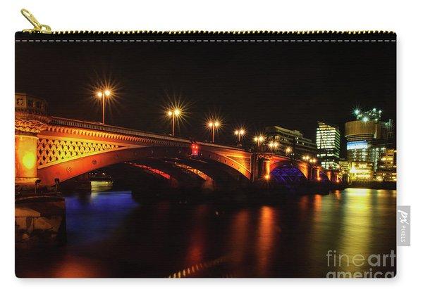Blackfriars Bridge Illuminated In Orange Carry-all Pouch