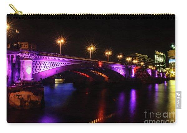 Blackfriars Bridge Illuminated In Purple Carry-all Pouch