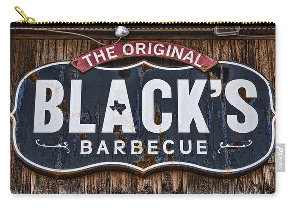 Blacks Barbecue Sign #1 Carry-all Pouch