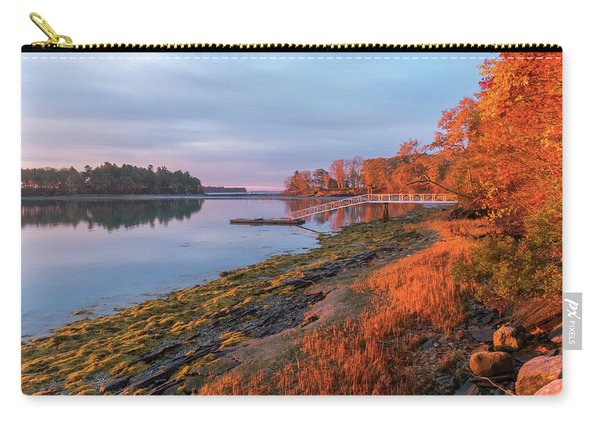 Carry-all Pouch featuring the photograph Blazing Shore by Tom Singleton