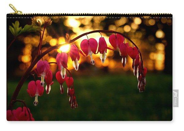 Bleeding Heart Sunset Carry-all Pouch