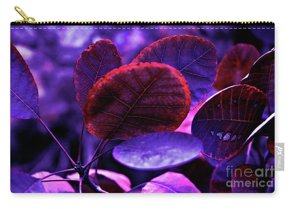 Bleeding Violet Smoke Bush Leaves - Pantone Violet Ec Carry-all Pouch