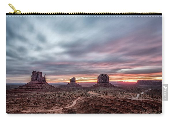 Blended Colors Over The Valley Carry-all Pouch