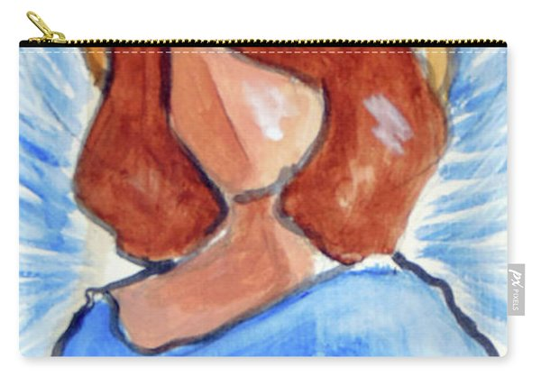 Carry-all Pouch featuring the painting Blessing Angel by Loretta Nash
